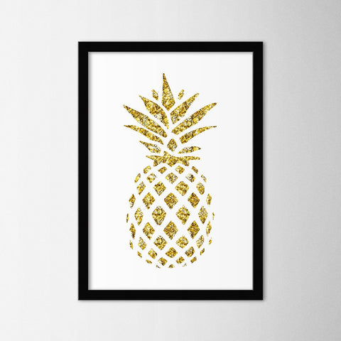 Gold Pineapple - Northshire - Poster - Dekorasyon - Ev Dekorasyonu - Wall Art - Metal Wall Art - Decoration