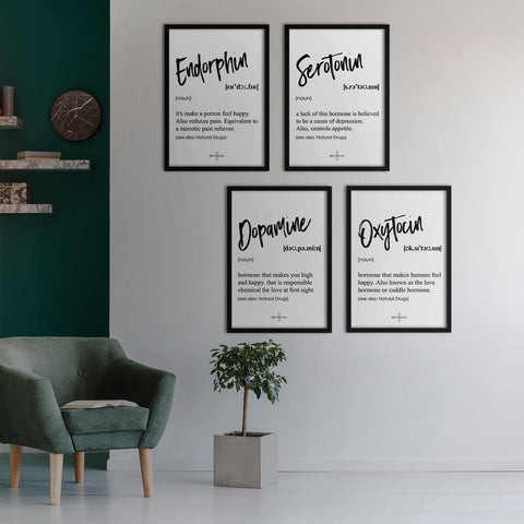 Happiness Poster Set