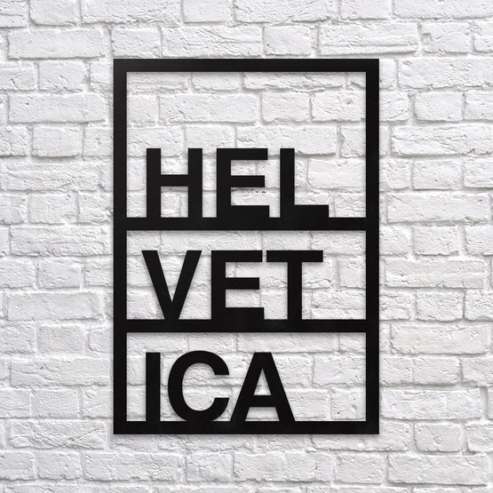 Helvetica - Metal Poster - Northshire - Poster - Dekorasyon - Ev Dekorasyonu - Wall Art - Metal Wall Art - Decoration
