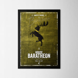 Game of Thrones - Baratheon - Northshire Art Prints - Metal Dekorasyon - Poster - Dekorasyon - Ev Dekorasyonu - Duvar Süsü