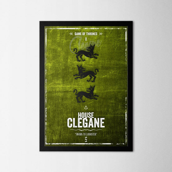 Game of Thrones - Clegane - Northshire - Poster - Dekorasyon - Ev Dekorasyonu - Wall Art - Metal Wall Art - Decoration
