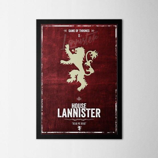 Game of Thrones - Lannister - Northshire - Poster - Dekorasyon - Ev Dekorasyonu - Wall Art - Metal Wall Art - Decoration