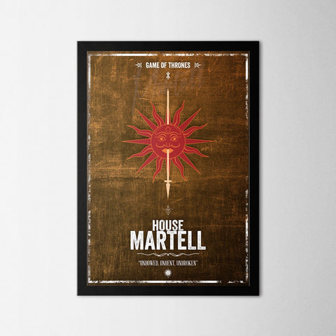 Game of Thrones - Martell - Northshire Art Prints - Poster - Dekorasyon