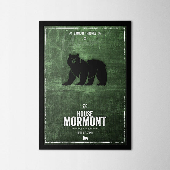Game of Thrones - Mormont - Northshire - Poster - Dekorasyon - Ev Dekorasyonu - Wall Art - Metal Wall Art - Decoration