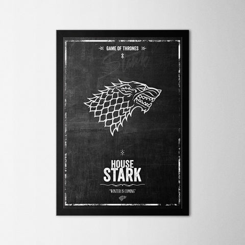 Game of Thrones - Stark - Northshire - Poster - Dekorasyon - Ev Dekorasyonu - Wall Art - Metal Wall Art - Decoration