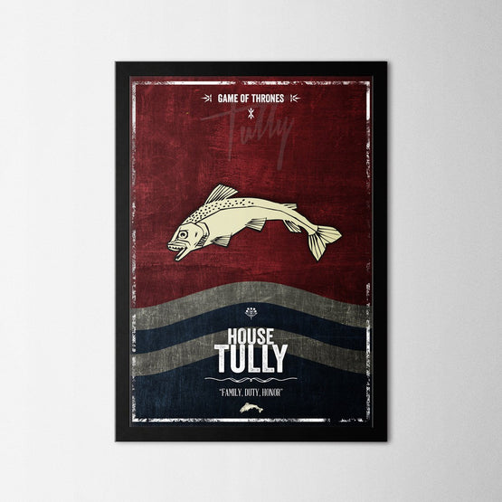 Game of Thrones - Tully - Northshire - Poster - Dekorasyon - Ev Dekorasyonu - Wall Art - Metal Wall Art - Decoration