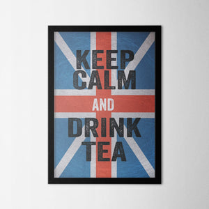 Keep Calm and Drink Tea - Northshire Art Prints - Metal Dekorasyon - Poster - Dekorasyon - Ev Dekorasyonu - Duvar Süsü