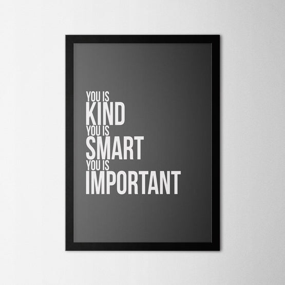 Kind Smart Important - Northshire - Poster - Dekorasyon - Ev Dekorasyonu - Wall Art - Metal Wall Art - Decoration