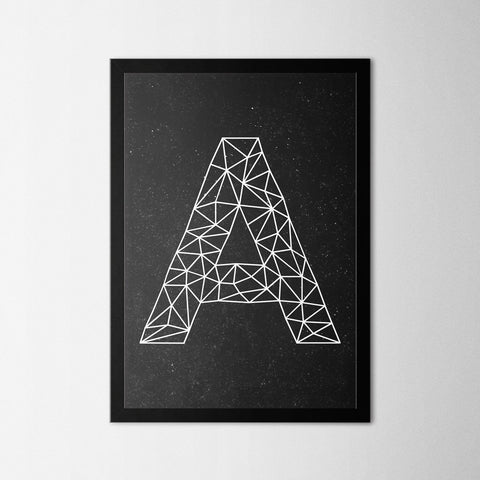Letter A - Northshire - Poster - Dekorasyon - Ev Dekorasyonu - Wall Art - Metal Wall Art - Decoration