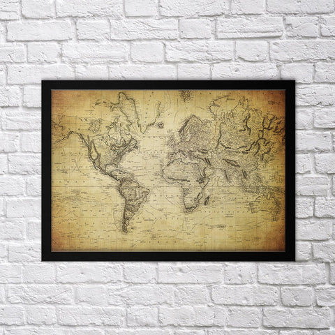 Old Map I - Northshire - Poster - Dekorasyon - Ev Dekorasyonu - Wall Art - Metal Wall Art - Decoration