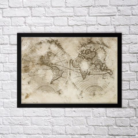 Old Map II - Northshire - Poster - Dekorasyon - Ev Dekorasyonu - Wall Art - Metal Wall Art - Decoration