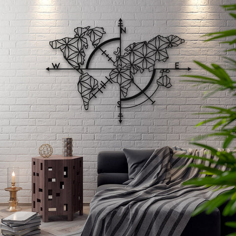 Map of Life - Dünya Haritası - Northshire - Poster - Dekorasyon - Ev Dekorasyonu - Wall Art - Metal Wall Art - Decoration