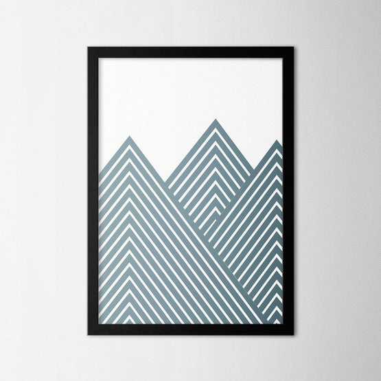 Minimal Line Art II - Northshire - Poster - Dekorasyon - Ev Dekorasyonu - Wall Art - Metal Wall Art - Decoration