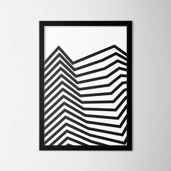 Minimal Line Art - Northshire - Poster - Dekorasyon - Ev Dekorasyonu - Wall Art - Metal Wall Art - Decoration