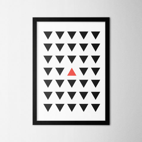 Minimal Red Triangle