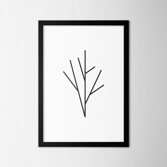 Minimal Tree I - Northshire - Poster - Dekorasyon - Ev Dekorasyonu - Wall Art - Metal Wall Art - Decoration
