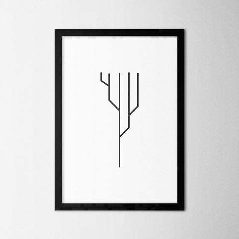 Minimal Tree II - Northshire - Poster - Dekorasyon - Ev Dekorasyonu - Wall Art - Metal Wall Art - Decoration
