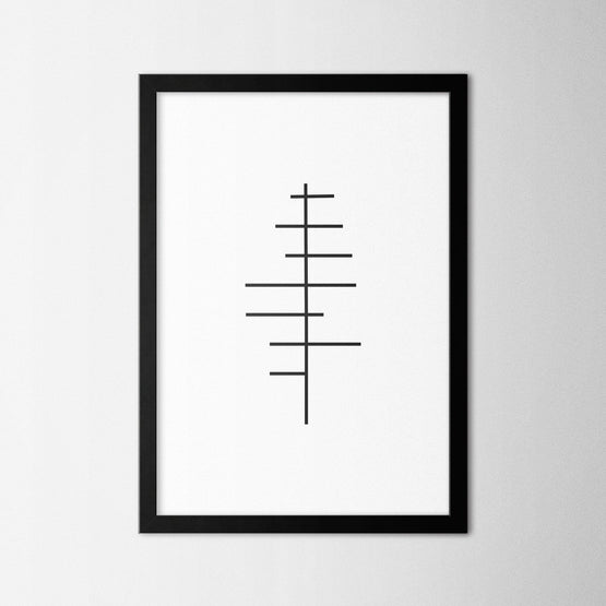 Minimal Tree III - Northshire - Poster - Dekorasyon - Ev Dekorasyonu - Wall Art - Metal Wall Art - Decoration