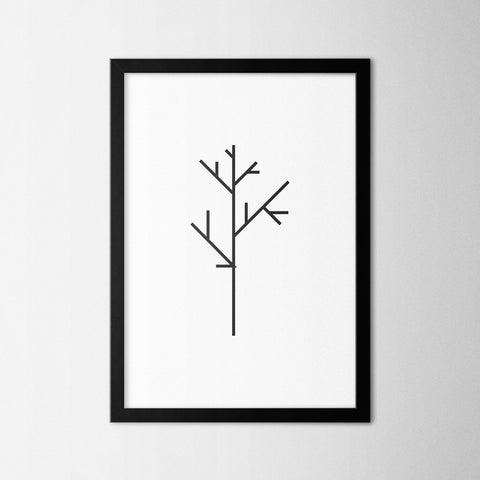 Minimal Tree IV - Northshire - Poster - Dekorasyon - Ev Dekorasyonu - Wall Art - Metal Wall Art - Decoration