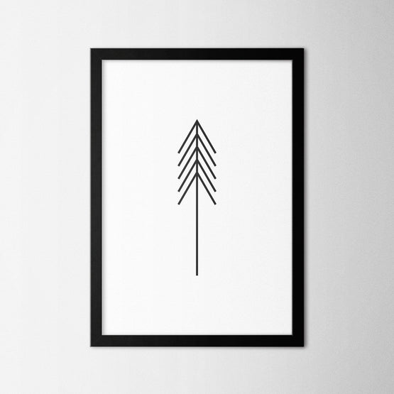 Minimal Tree V - Northshire - Poster - Dekorasyon - Ev Dekorasyonu - Wall Art - Metal Wall Art - Decoration