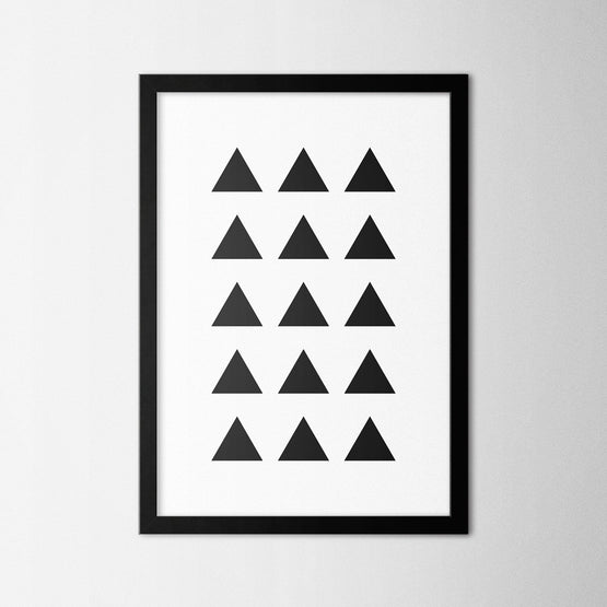 Minimal Triangles - Northshire - Poster - Dekorasyon - Ev Dekorasyonu - Wall Art - Metal Wall Art - Decoration