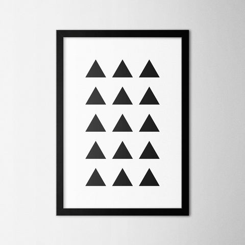 Minimal Triangles - Northshire Art Prints - Poster - Dekorasyon