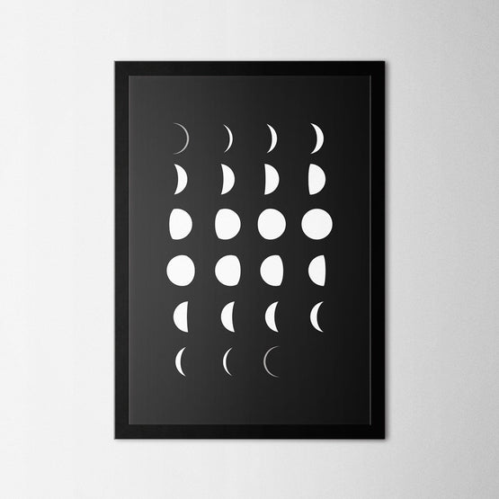 Moon Phases - Northshire - Poster - Dekorasyon - Ev Dekorasyonu - Wall Art - Metal Wall Art - Decoration