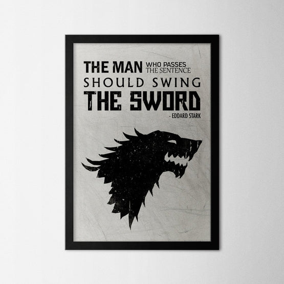 Eddard Stark Quote - Northshire - Poster - Dekorasyon - Ev Dekorasyonu - Wall Art - Metal Wall Art - Decoration