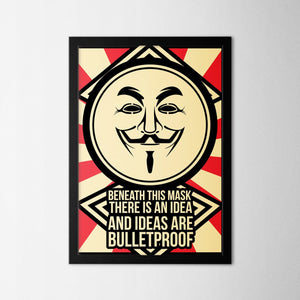 V for Vendetta Quote - Northshire - Poster - Dekorasyon - Ev Dekorasyonu - Wall Art - Metal Wall Art - Decoration
