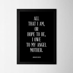 My Angel Mother - Northshire Art Prints - Metal Dekorasyon - Poster - Dekorasyon - Ev Dekorasyonu - Duvar Süsü