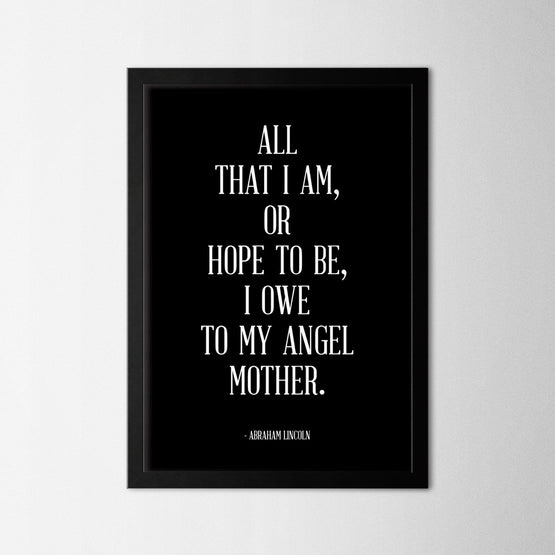 My Angel Mother - Northshire - Poster - Dekorasyon - Ev Dekorasyonu - Wall Art - Metal Wall Art - Decoration