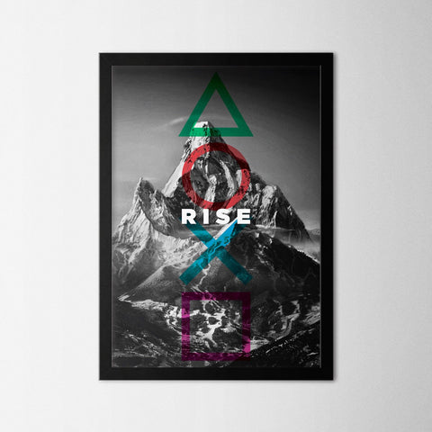 Rise - Northshire - Poster - Dekorasyon - Ev Dekorasyonu - Wall Art - Metal Wall Art - Decoration