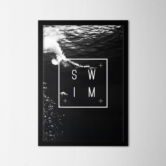 Swim - Northshire - Poster - Dekorasyon - Ev Dekorasyonu - Wall Art - Metal Wall Art - Decoration