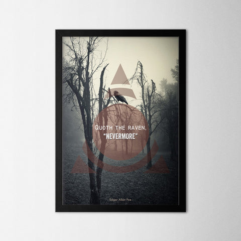 Nevermore - Northshire - Poster - Dekorasyon - Ev Dekorasyonu - Wall Art - Metal Wall Art - Decoration