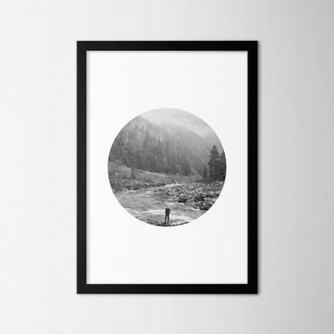 Black & White Photography II - Northshire - Poster - Dekorasyon - Ev Dekorasyonu - Wall Art - Metal Wall Art - Decoration