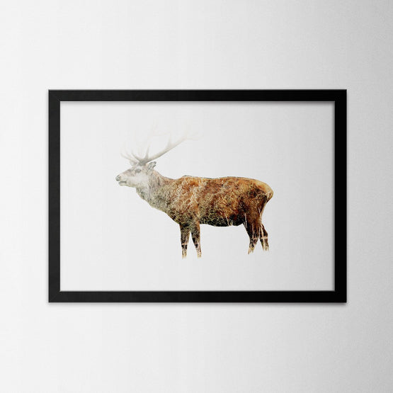 Exposure Deer - Northshire - Poster - Dekorasyon - Ev Dekorasyonu - Wall Art - Metal Wall Art - Decoration