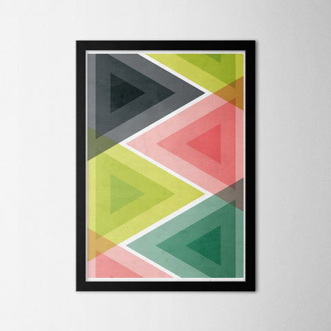 Retro Triangle - Northshire - Poster - Dekorasyon - Ev Dekorasyonu - Wall Art - Metal Wall Art - Decoration