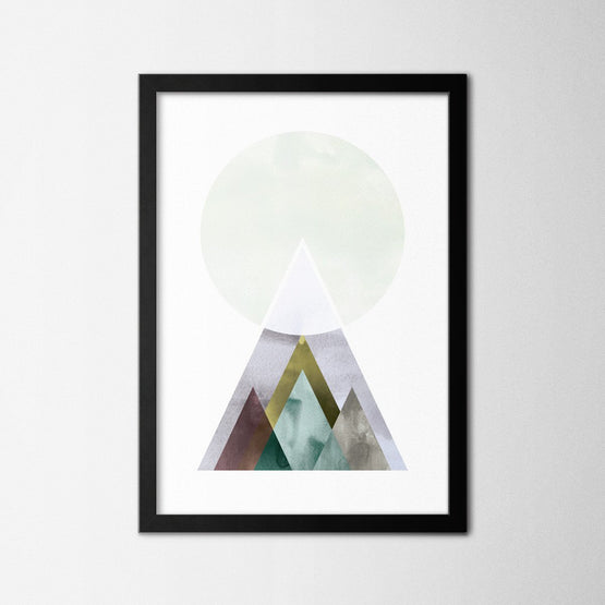 Scandinavian Geometric Mountain - Northshire - Poster - Dekorasyon - Ev Dekorasyonu - Wall Art - Metal Wall Art - Decoration
