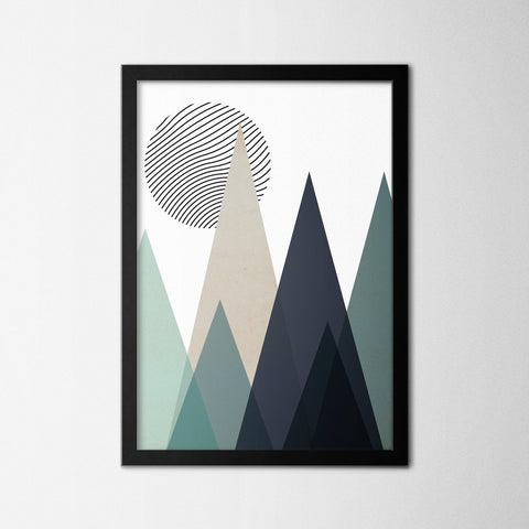 Scandinavian Geometric View - Northshire - Poster - Dekorasyon - Ev Dekorasyonu - Wall Art - Metal Wall Art - Decoration