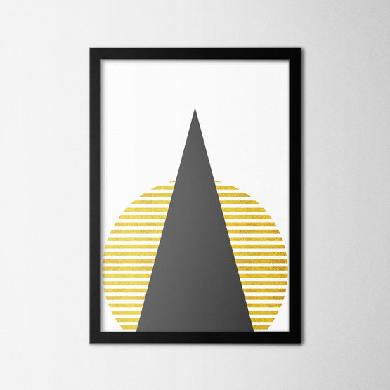 Scandinavian Black Triangle - Northshire - Poster - Dekorasyon - Ev Dekorasyonu - Wall Art - Metal Wall Art - Decoration