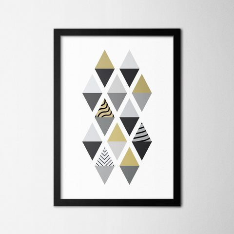 Scandinavian Diagonal I - Northshire - Poster - Dekorasyon - Ev Dekorasyonu - Wall Art - Metal Wall Art - Decoration
