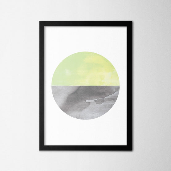 Scandinavian Green Circle - Northshire - Poster - Dekorasyon - Ev Dekorasyonu - Wall Art - Metal Wall Art - Decoration