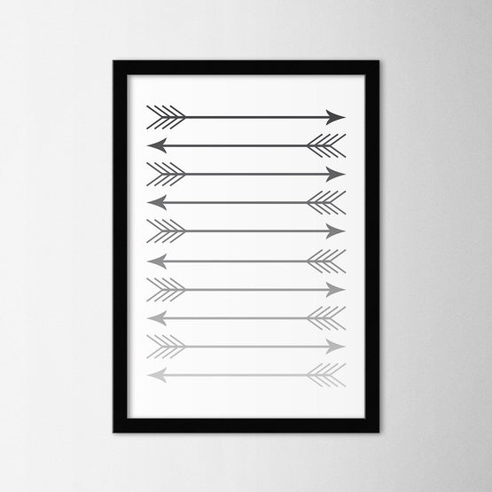 Scandinavian Arrow IV - Northshire - Poster - Dekorasyon - Ev Dekorasyonu - Wall Art - Metal Wall Art - Decoration