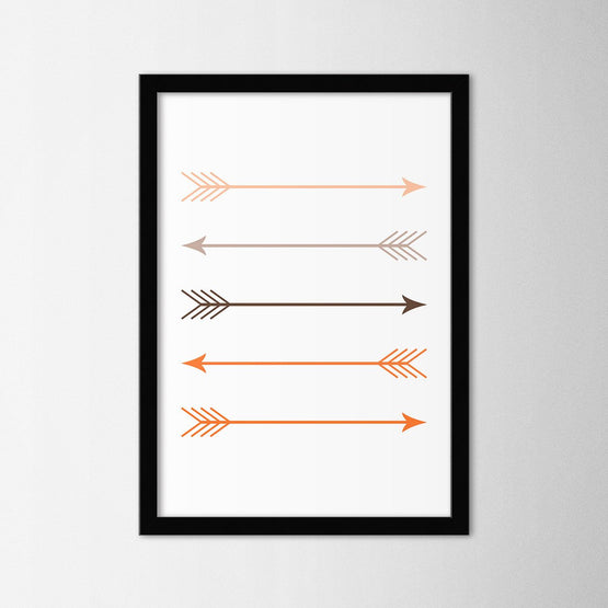 Scandinavian Arrows II - Northshire - Poster - Dekorasyon - Ev Dekorasyonu - Wall Art - Metal Wall Art - Decoration