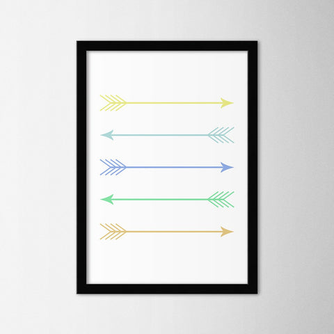 Scandinavian Arrows III - Northshire Art Prints - Poster - Dekorasyon