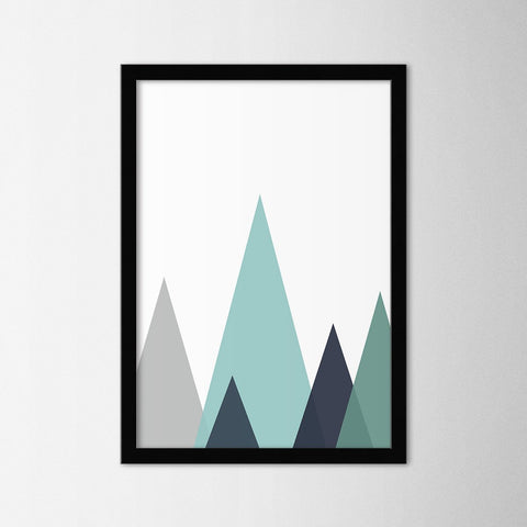 Scandinavian Mountains - Northshire - Poster - Dekorasyon - Ev Dekorasyonu - Wall Art - Metal Wall Art - Decoration