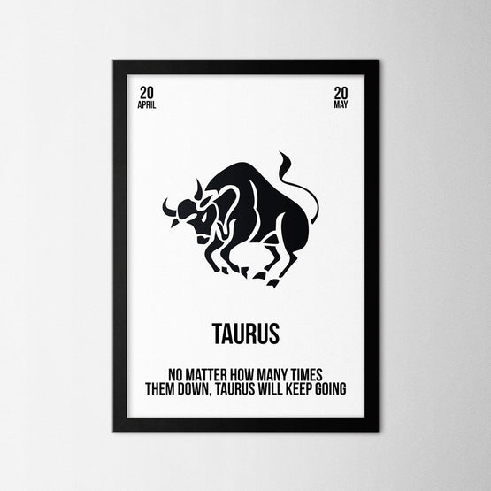 Zodiac - Taurus - Northshire - Poster - Dekorasyon - Ev Dekorasyonu - Wall Art - Metal Wall Art - Decoration