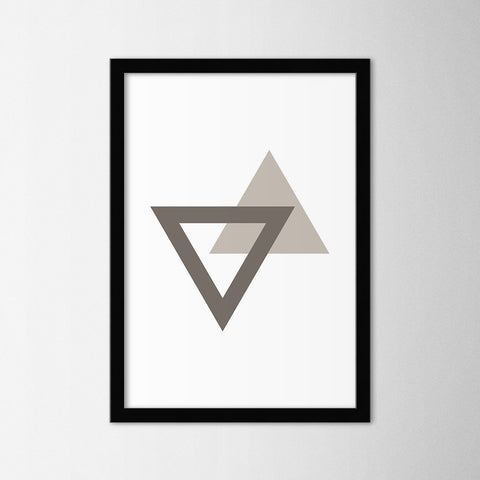 Triangle - Northshire - Poster - Dekorasyon - Ev Dekorasyonu - Wall Art - Metal Wall Art - Decoration