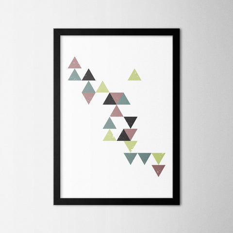 Triangles - Northshire - Poster - Dekorasyon - Ev Dekorasyonu - Wall Art - Metal Wall Art - Decoration