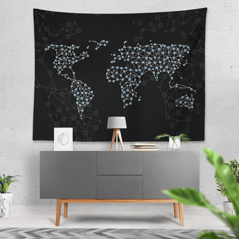 World Map - Duvar Örtüsü - Northshire - Poster - Dekorasyon - Ev Dekorasyonu - Wall Art - Metal Wall Art - Decoration
